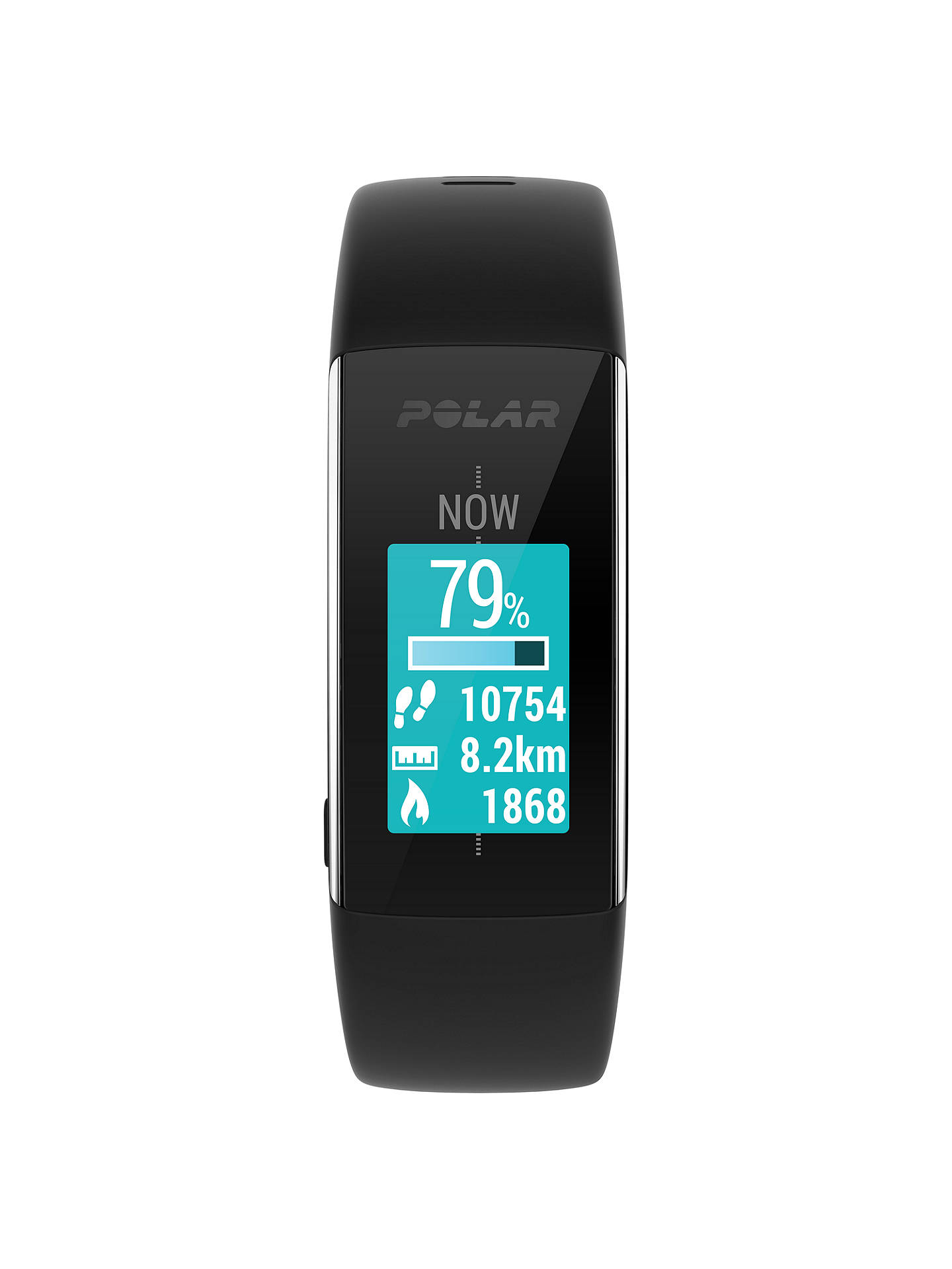 BuyPolar A360 Fitness Tracker Sports Watch, Medium, Black Online at johnlewis.com