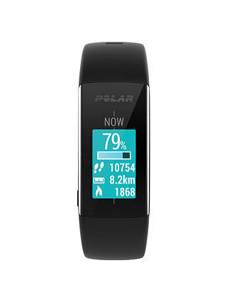Buy Polar A360 Fitness Tracker Sports Watch, Medium, Black Online at johnlewis.com
