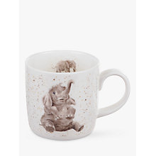 Buy Royal Worcester Wrendale Elephant Mug Online at johnlewis.com