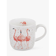 Buy Royal Worcester Wrendale Flamingo Mug Online at johnlewis.com