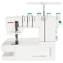 Buy Janome Coverpro 2000CPX Coverstitch Hemmer Machine Online at johnlewis.com