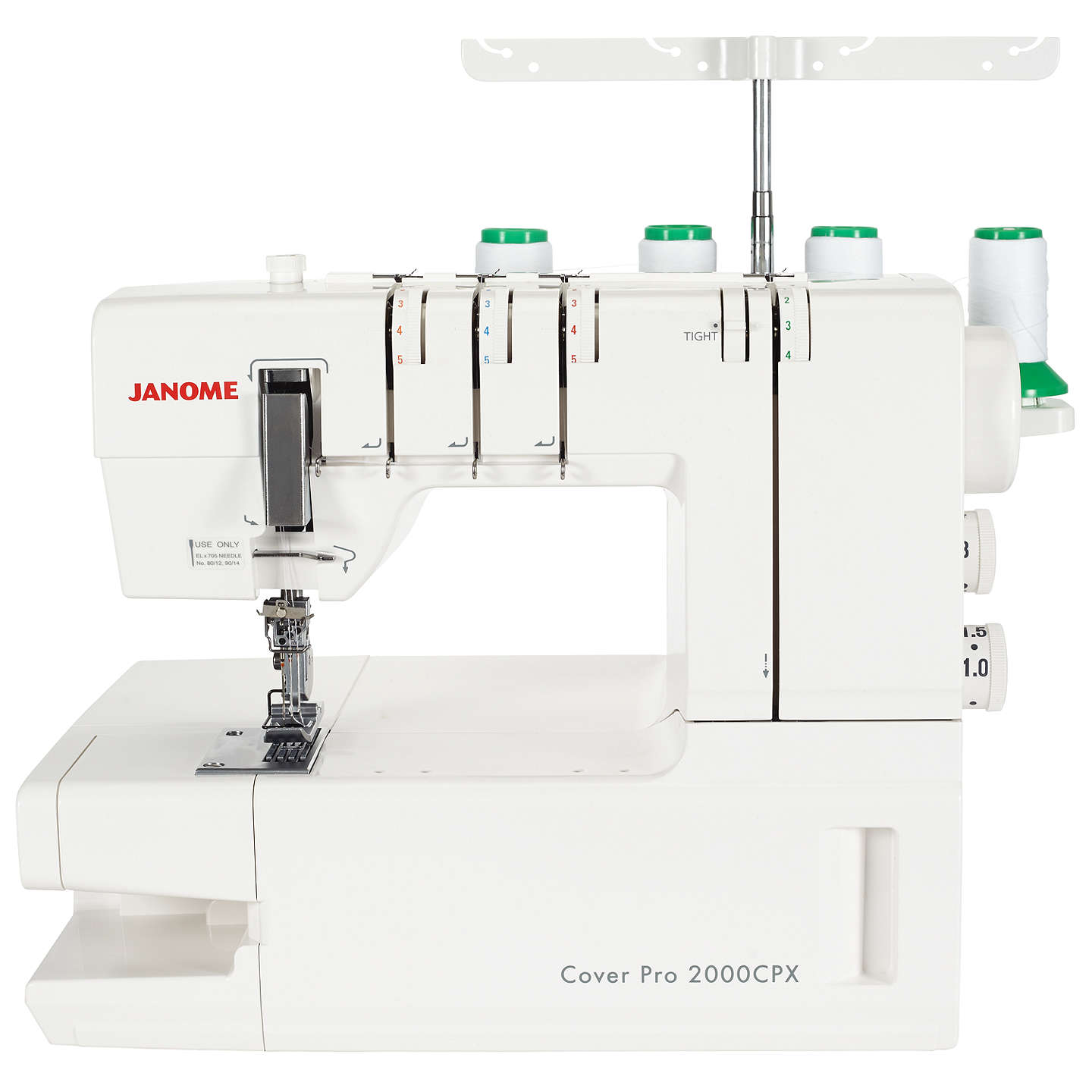 Janome Coverpro 2000CPX Coverstitch Hemmer Machine at John Lewis