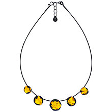 Buy Be-Jewelled Sterling Silver Oxidised Necklace, Grey/Gold Online at johnlewis.com