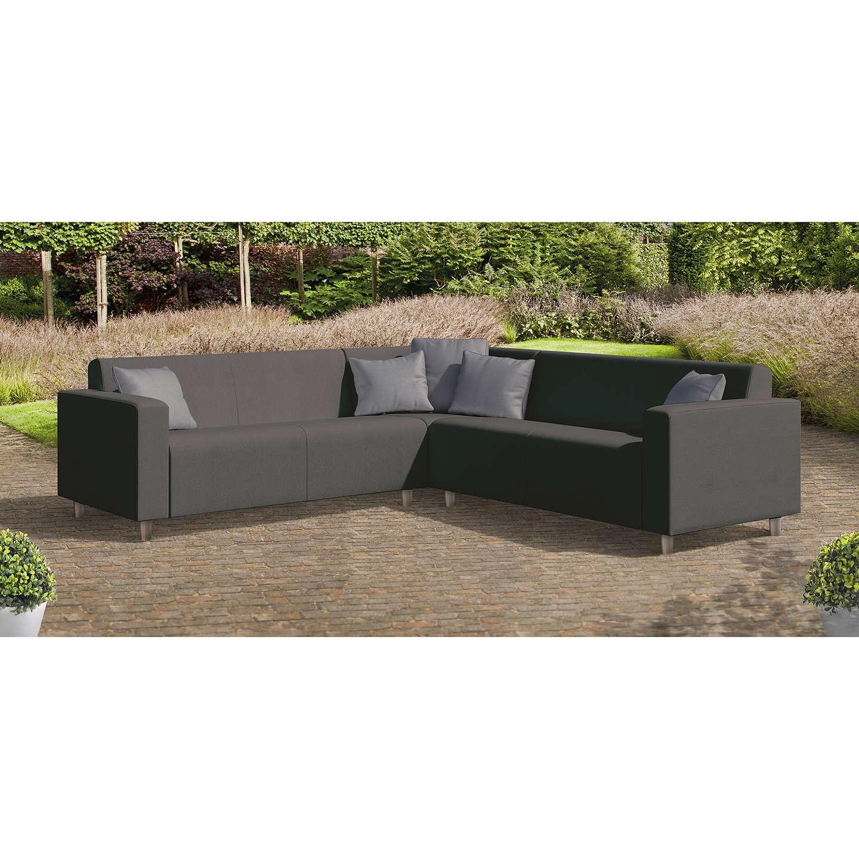 BuyCoSi Frejus Weatherproof 6 Seater Garden Corner Sofa Set, Graphite  Online At Johnlewis.com