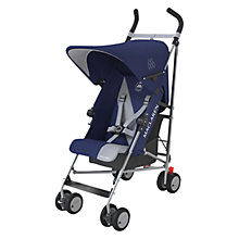 Buy Maclaren Triumph Stroller, Blue/Silver Online at johnlewis.com