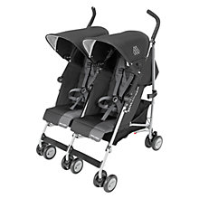 Buy Maclaren Twin Triumph Buggy, Black/Charcoal Online at johnlewis.com