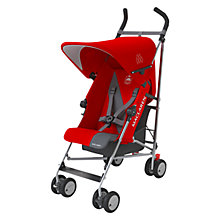 Buy Maclaren Triumph Stroller, Red/Charcoal Online at johnlewis.com