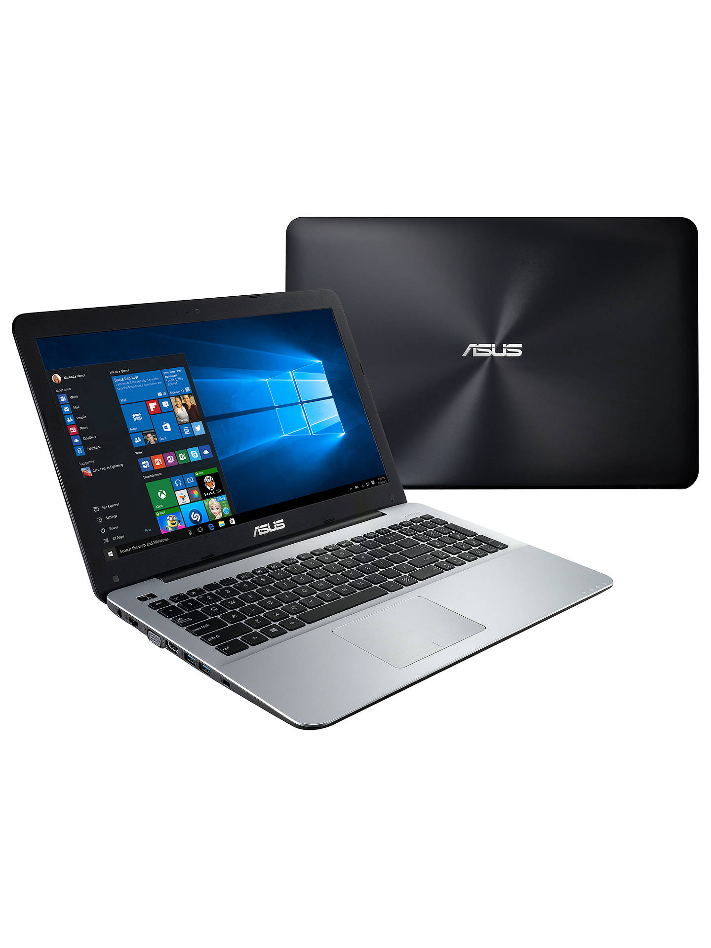 "Buy ASUS X555LA Laptop, Intel Core i7, 8GB RAM, 1TB, 15.6"", Black Online at johnlewis.com"