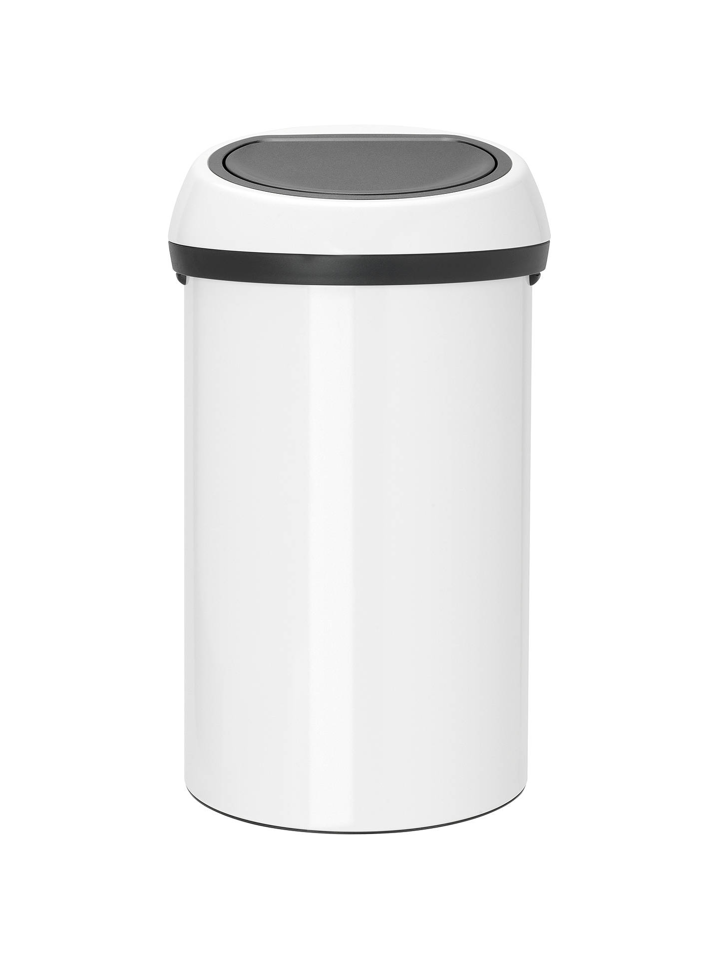 brabantia touch bin white 60l at john lewis partners. Black Bedroom Furniture Sets. Home Design Ideas