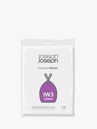 Buy Joseph Joseph IW3 Intelligent Waste General Waste Liners, 17L, Pack of 20 Online at johnlewis.com