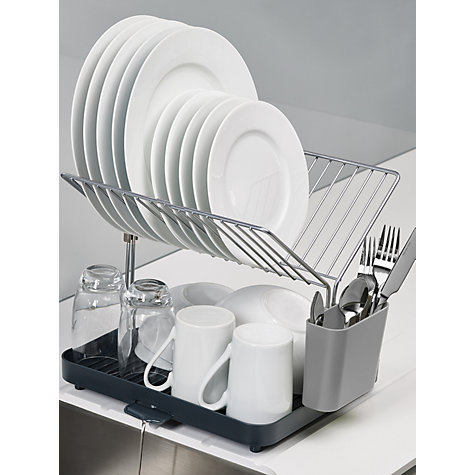 buy joseph joseph y rack 2 tier self draining dish rack john lewis. Black Bedroom Furniture Sets. Home Design Ideas