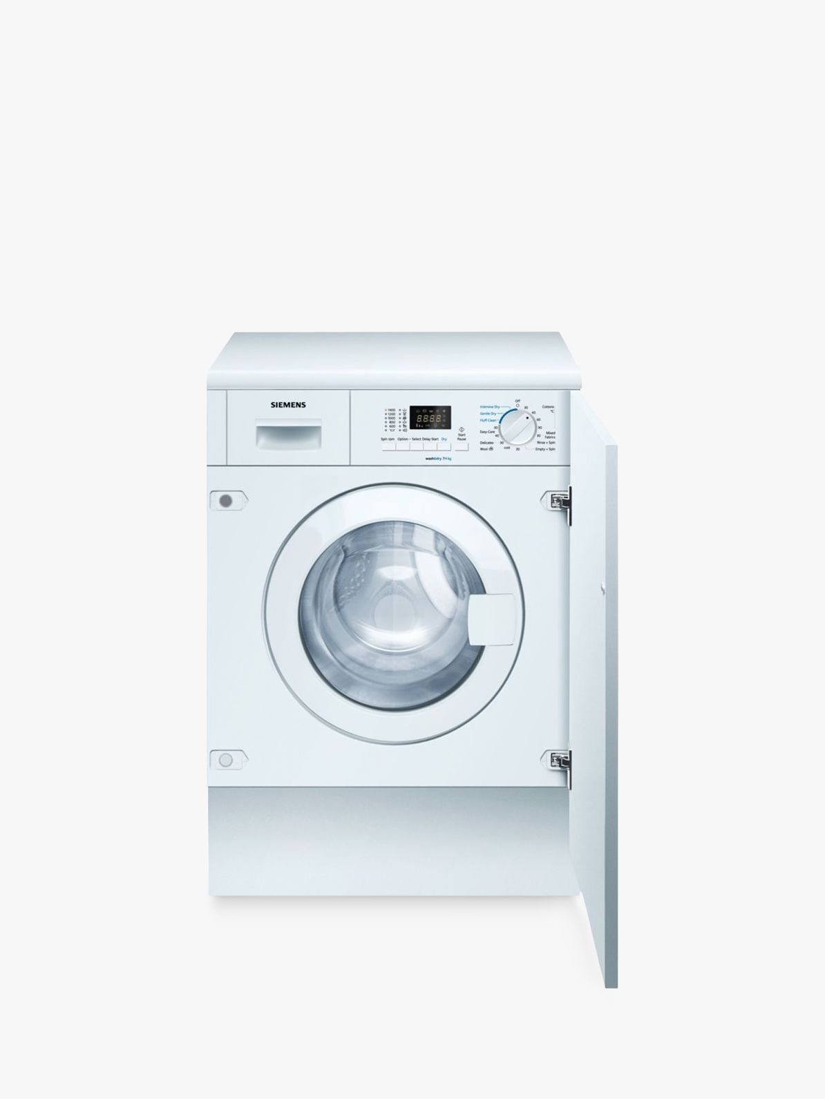Siemens Siemens WK14D321GB iQ300 Integrated Washer Dryer, 7kg Wash/4kg Dry Load, A Energy Rating, 1400rpm Spin