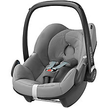 Buy Maxi-Cosi Concrete Grey Pebble and Pearl Car Seats and Family Fix Base bundle Online at johnlewis.com