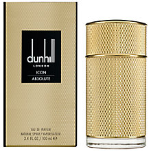 Buy Dunhill London ICON Absolute Eau de Parfum, 100ml Online at johnlewis.com