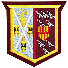 Buy St Cuthbert's High School Oswald House Badge, Multi Online at johnlewis.com
