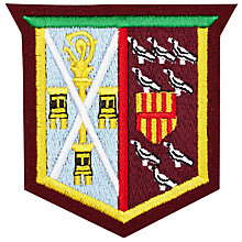 Buy St Cuthbert's High School Hild House Badge, Multi Online at johnlewis.com