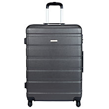 Buy John Lewis Basics 4-Wheel Large Suitcase, Anthracite Online at johnlewis.com
