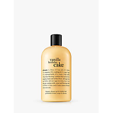 Buy Philosophy Vanilla Birthday Cake Shampoo/Shower Gel/Bubble Bath, 480ml Online at johnlewis.com