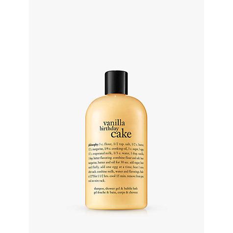 Buy Philosophy Vanilla Birthday Cake Shampoo Shower Gel Bubble Bath 480ml Online At