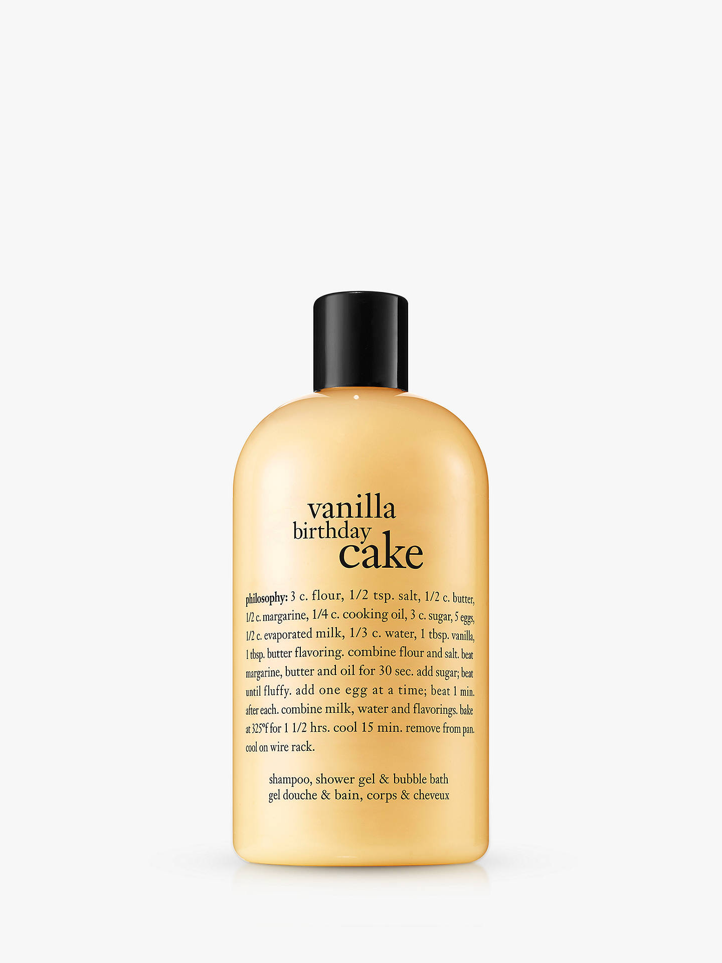 BuyPhilosophy Vanilla Birthday Cake Shampoo Shower Gel Bubble Bath 480ml Online At Johnlewis