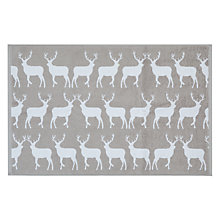 Buy Anorak Silver Stag Bath Mat, Grey Online at johnlewis.com
