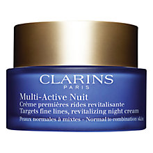 Buy Clarins Multi-Active Night Cream, Normal / Combination Skin, 50ml Online at johnlewis.com