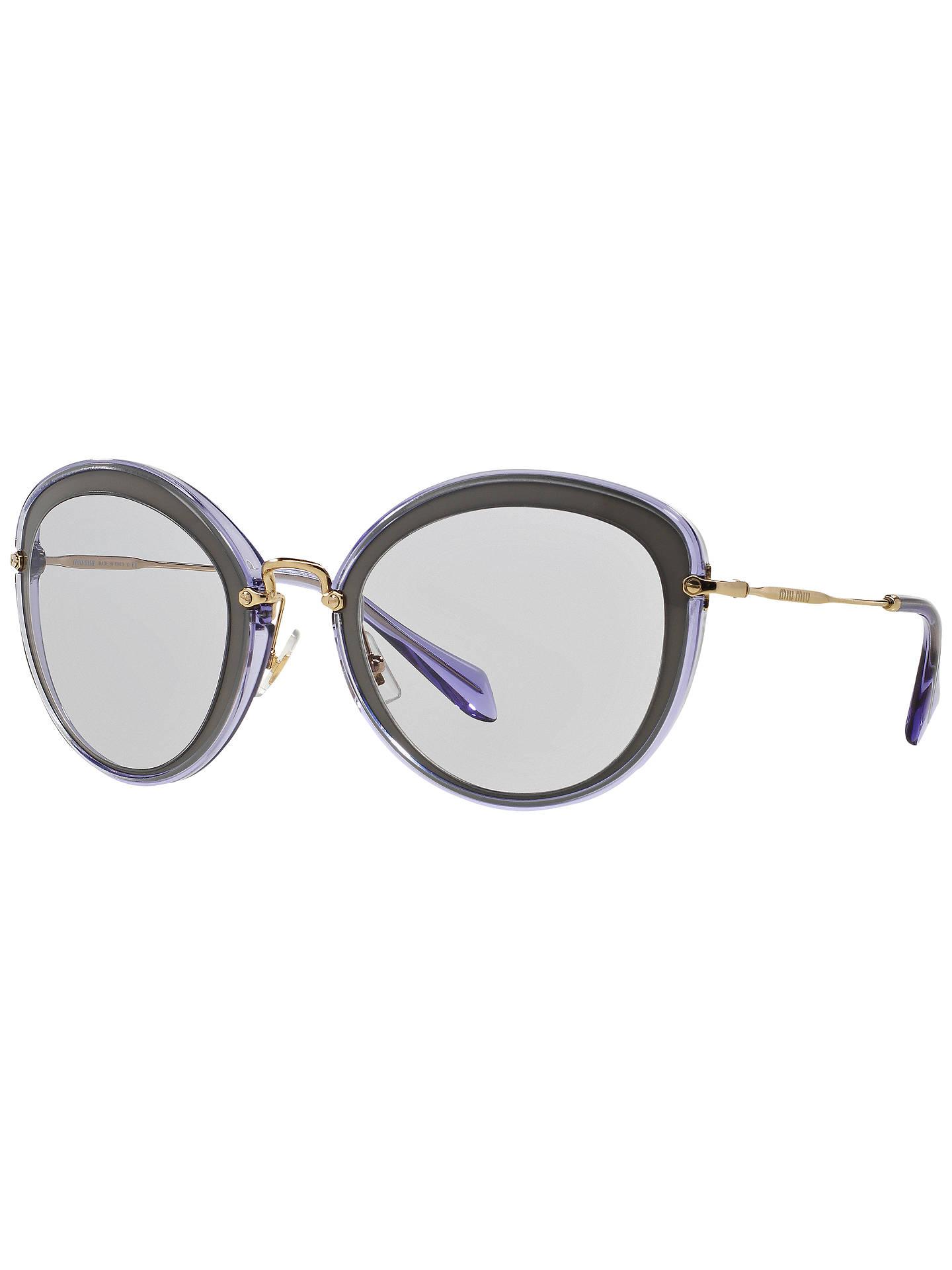 849fa4f0d663 Miu Miu MU50RS Cat s Eye Metal Sunglasses at John Lewis   Partners