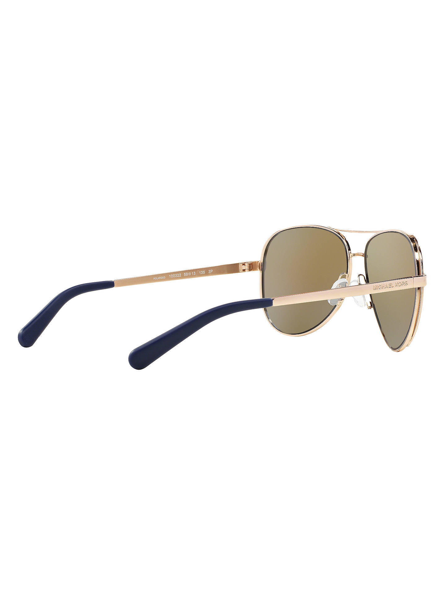 050fb85fc9 Michael Kors MK5004 Chelsea Polarised Aviator Sunglasses at John ...