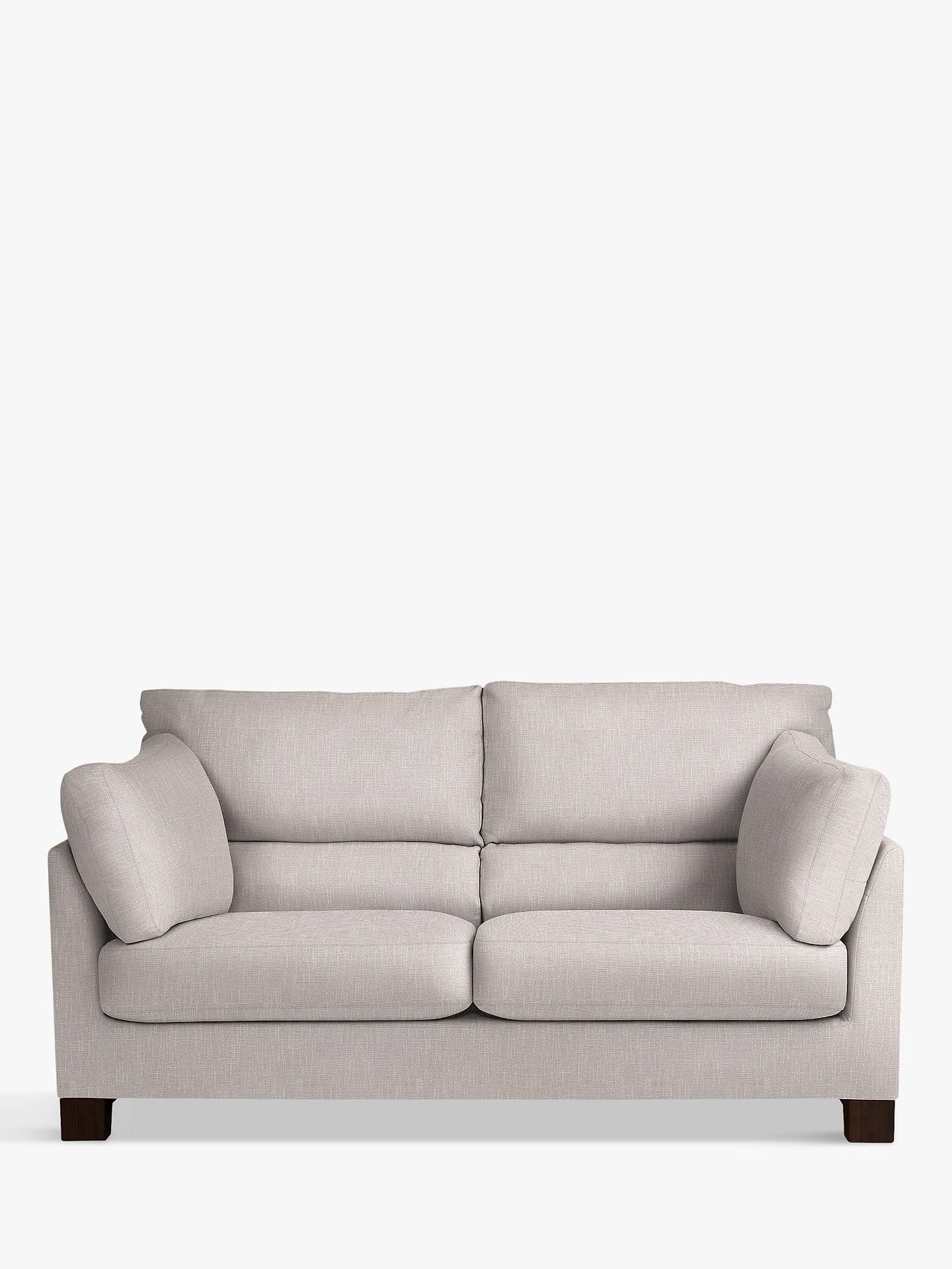 John Lewis & Partners Ikon High Back Medium 2 Seater Sofa, Henley French  Grey