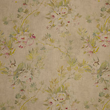 Buy Designers Guild Floreale Semi Plain Fabric, Natural, Price Band G Online at johnlewis.com