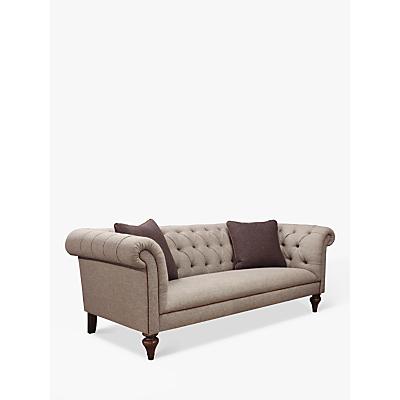 Tetrad Gleneagles Grand 4 Seater Sofa, Harris Tweed Heather with Brompton Tan Piping