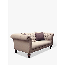 Buy Tetrad Harris Tweed Gleneagles Medium Sofa, Heather Tweed with Brompton Tan Piping Online at johnlewis.com