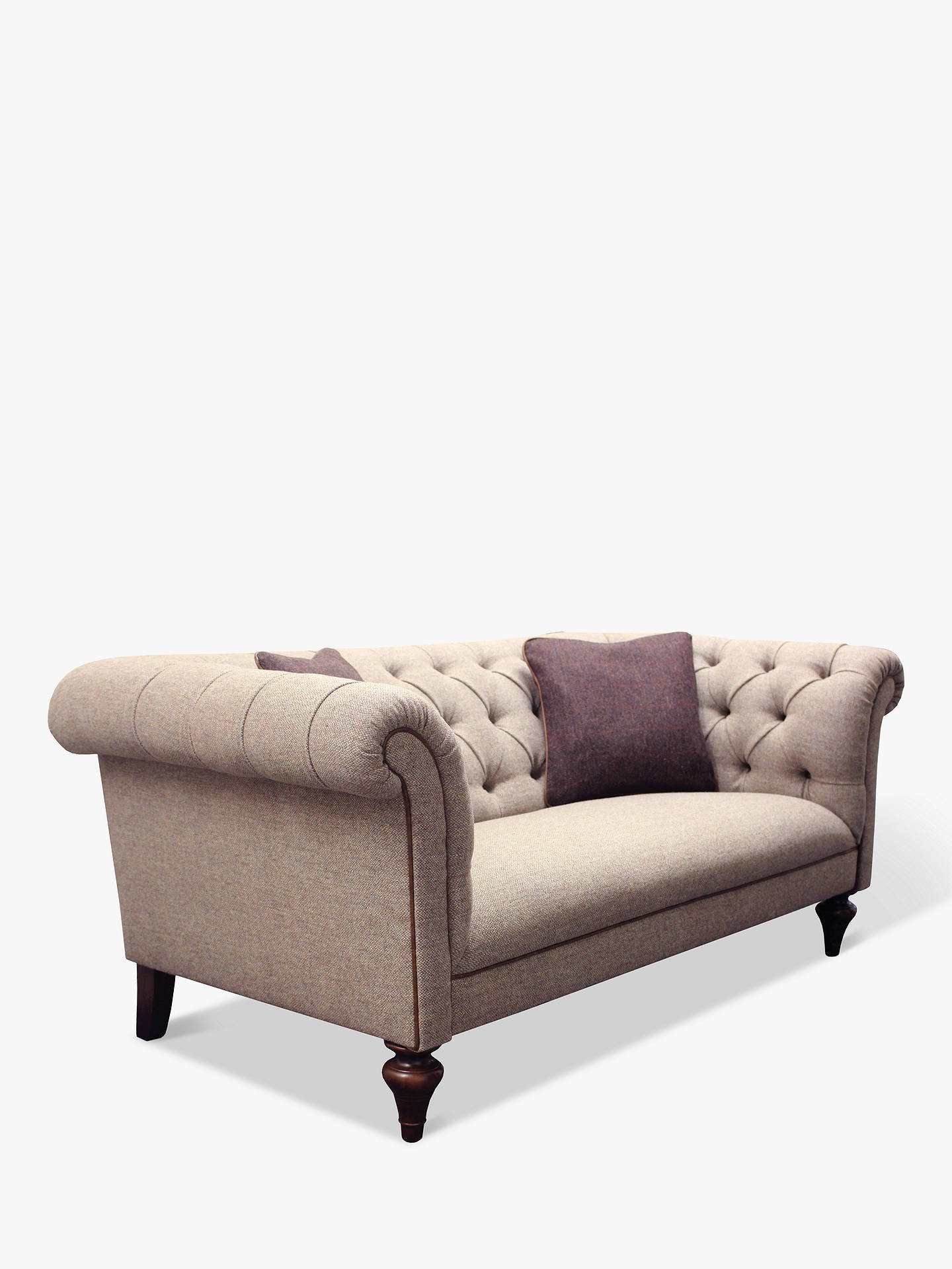 Tetrad Gleneagles Medium 2 Seater Sofa Harris Tweed Heather With Brompton Tan Piping Online At
