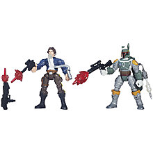 Buy Star Wars Episode VII: The Force Awakens Hans Solo Vs Boba Fett Hero Mashers Online at johnlewis.com
