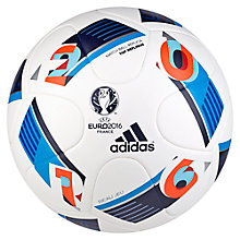 Buy Adidas UEFA EURO 2016 Top Replique Training Football, White/Multi Online at johnlewis.com