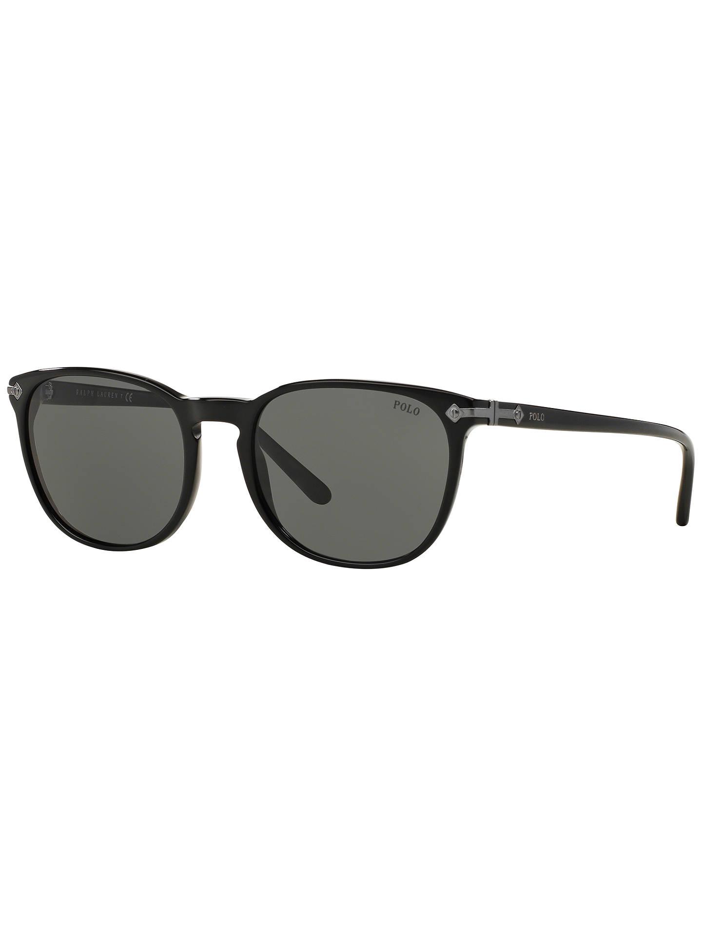 2247d9774060 Buy Polo Ralph Lauren PH4107 Phantos Oval Sunglasses, Black Online at  johnlewis.com ...