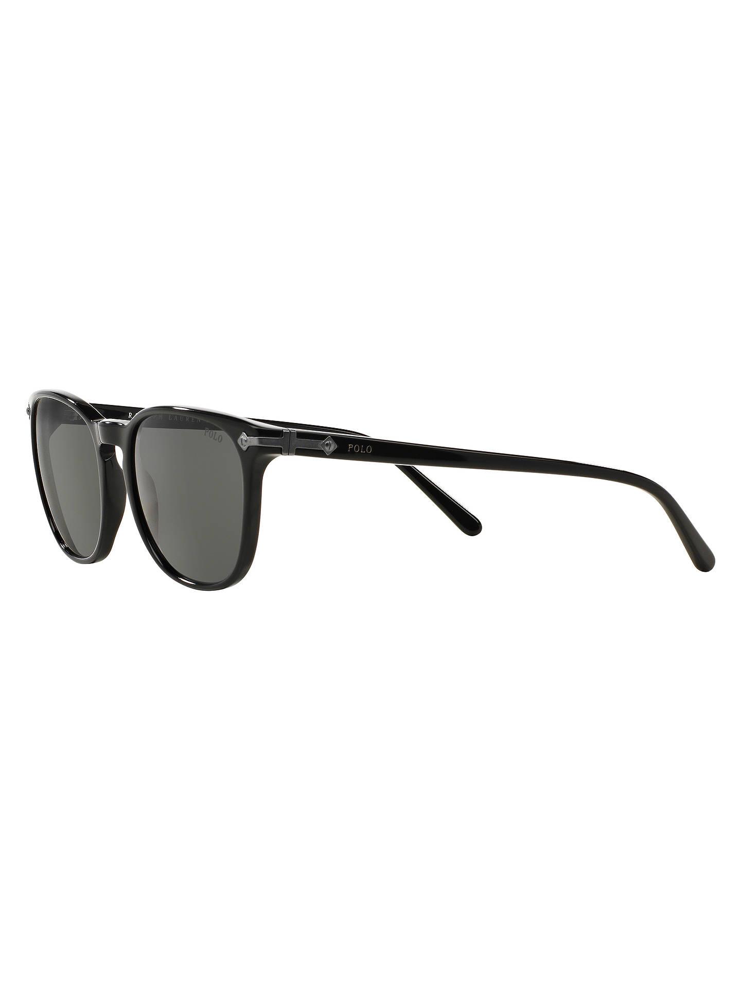 9ee040a9b16a ... Buy Polo Ralph Lauren PH4107 Phantos Oval Sunglasses, Black Online at  johnlewis.com ...