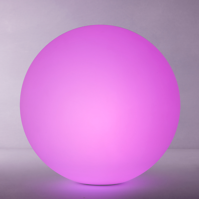 John Lewis Ball Colour Changing LED Outdoor Light, Dia.50cm