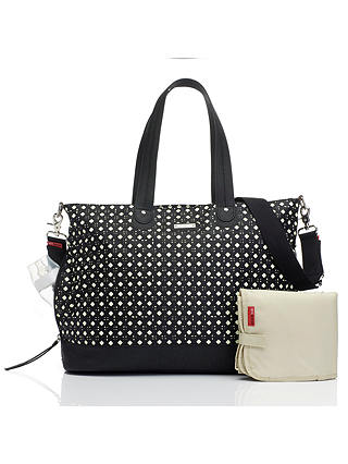 Buy Storksak Tote Changing Bag, Diamonds Black Online at johnlewis.com