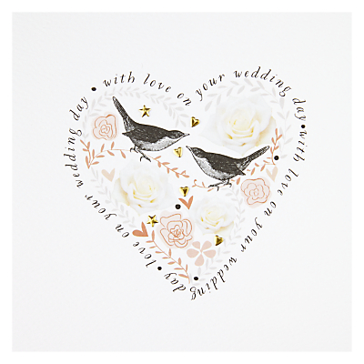Heart & Birds Wedding Card