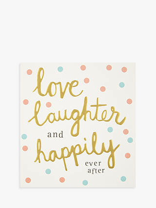 Buy Caroline Gardner Love And Laughter Wedding Card Online at johnlewis.com