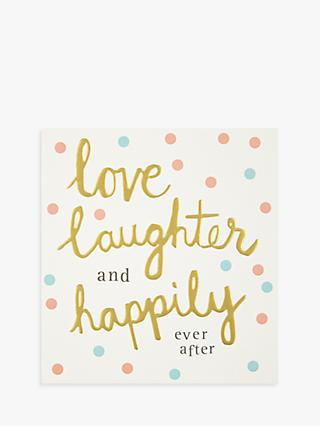 Caroline Gardner Love And Laughter Wedding Card