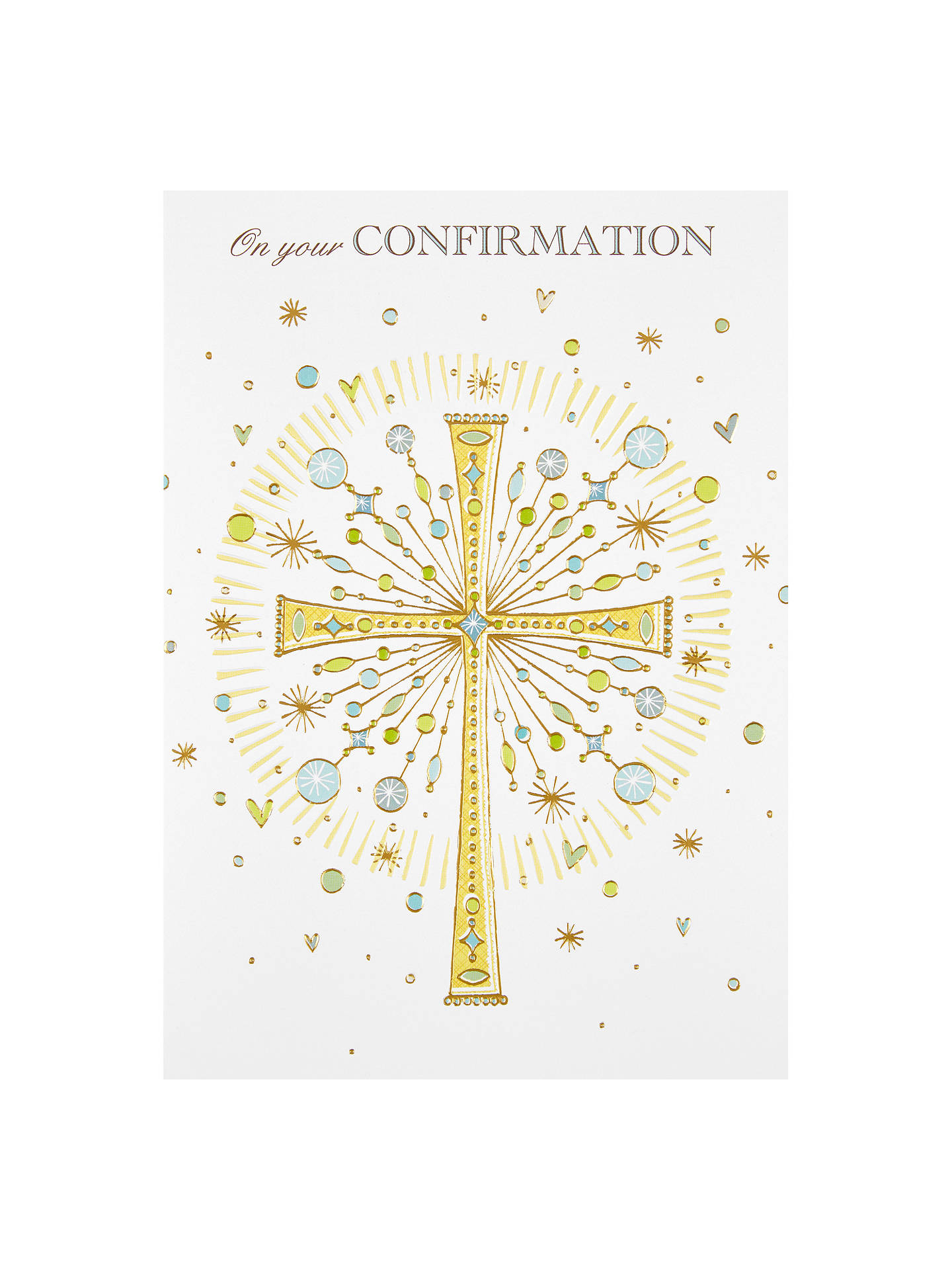 Paper Rose On Your Confirmation Christening Card At John Lewis
