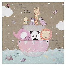 Buy Hammond Gower Pink Ark New Baby Card Online at johnlewis.com