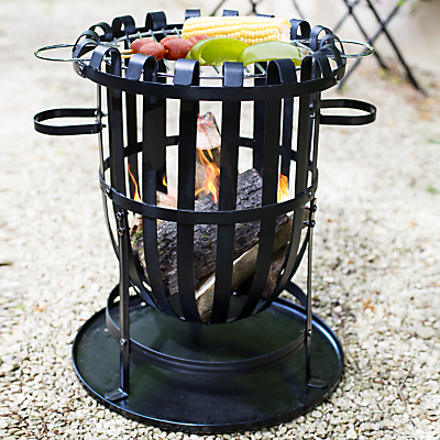 La Hacienda Traditional Fire Basket With Grill