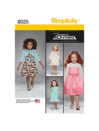 8e0081d42ef Simplicity Children's Project Runway Dresses Sewing Pattern, ...