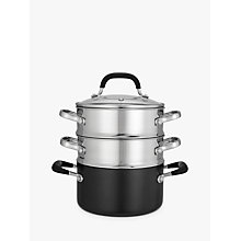 "Buy John Lewis ""The Pan"" 3-Piece Steamer Set Online at johnlewis.com"