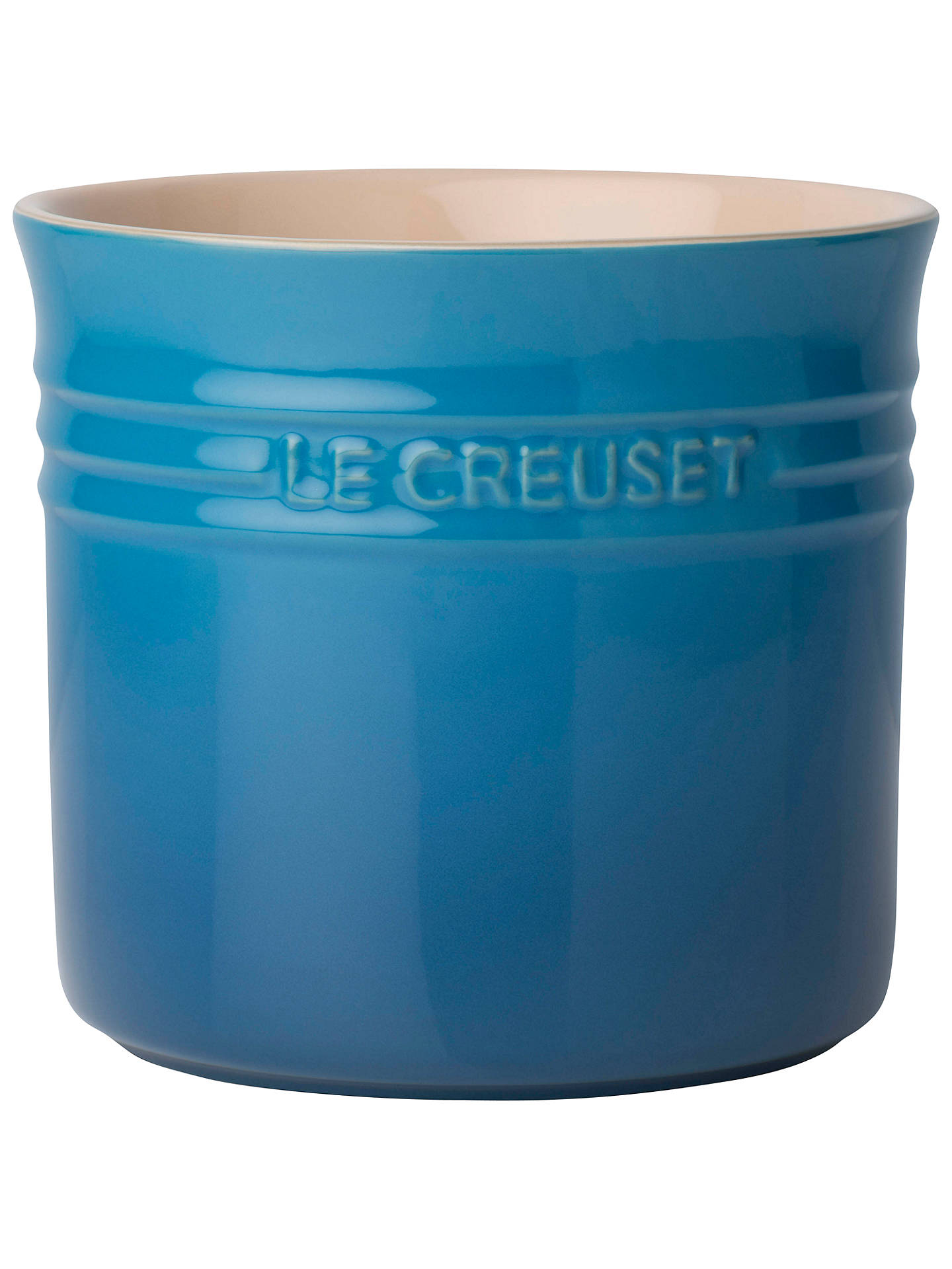 BuyLe Creuset Utensil Jar, Large, Marseille Blue Online at johnlewis.com