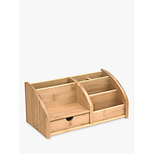 Buy John Lewis Bamboo Desk Organiser Online at johnlewis.com