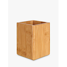 Buy John Lewis Bamboo Pen Pot Online at johnlewis.com